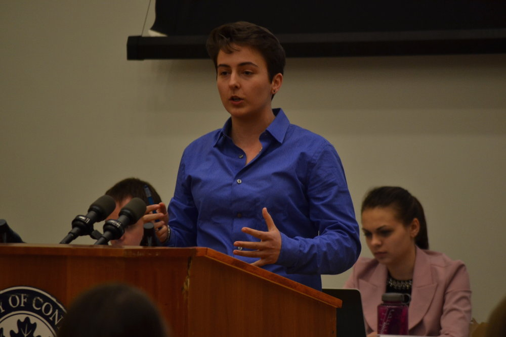 In the last 6 years, the only time the USG judiciary has not been involved in a spring election was in 2015 when Rachel Conboy (above) ran unopposed for the seat of president. (Amar Batra/The Daily Campus)