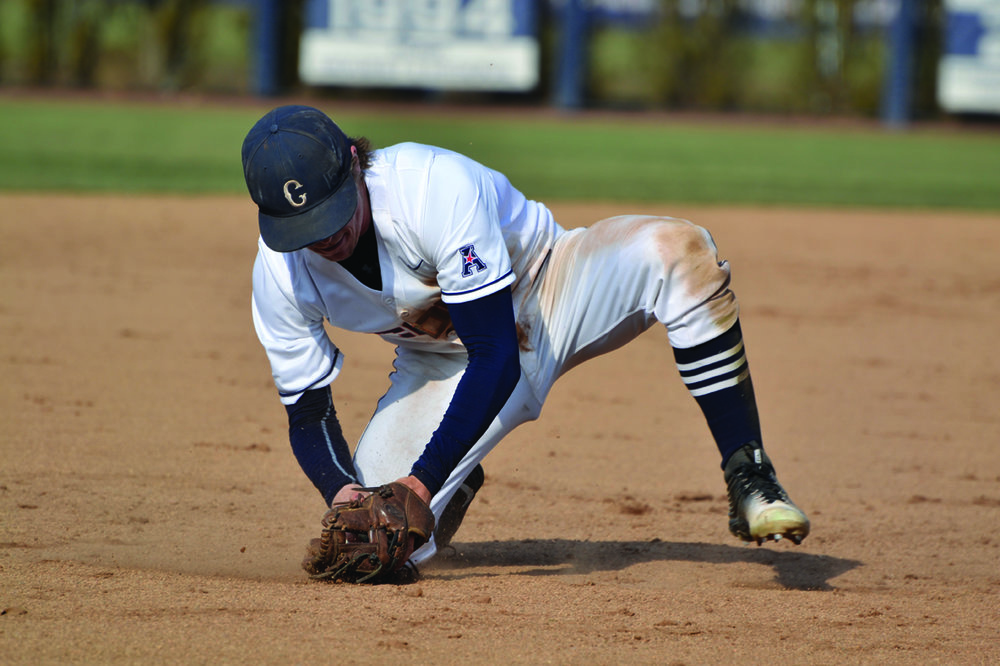 Willy Yahn fields a grounder during UConn's 8-2 victory over Yale at J.O. Christian Field on Tuesday March 8, 2016. (Rebecca Newman/The Daily Campus)