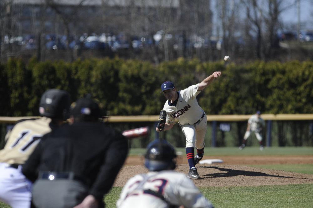 The UConn Huskies defeated Central Connecticut State University 7-5 on Tuesday afternoon at CCSU. (Tyler Benton/The Daily Campus)