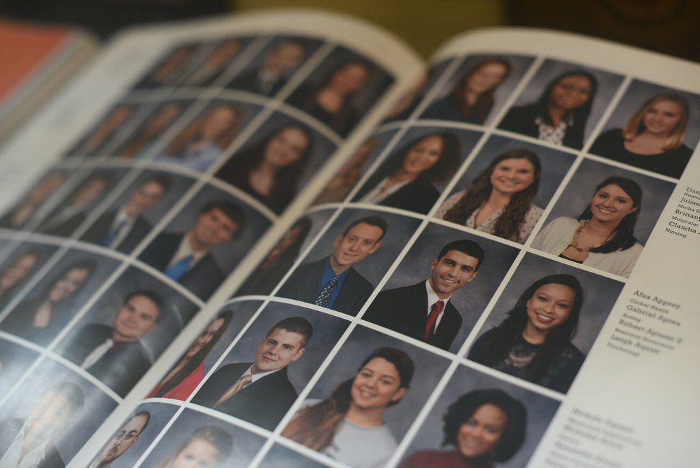 UConn Nutmeg yearbook offers senior portraits at the B&N bookstore at the Gradfair on March 22nd and 23rd from 10am to 3pm. (Zhelun Lang/The Daily Campus)