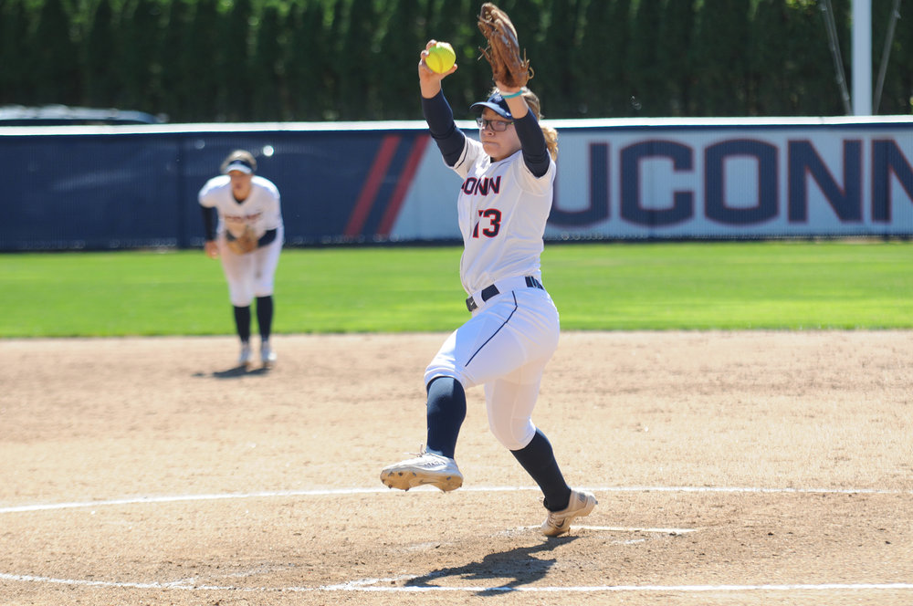 The UConn Women's softball team defeated UM-Lowell 6-3 at Burrill Field Sunday September 25, 2016. This game was part of a double header match. (Amar Batra/ The Daily Campus)