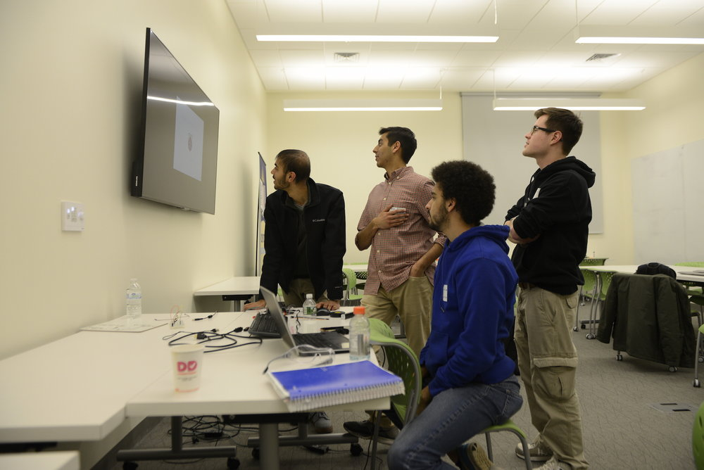 The annual HackUConn Hackathon took palce in the Next Gen hall makerspace. Student groups create presentations within a time frame of 24 hours around the topic of allergy. (Jason Jiang/The Daily Campus)