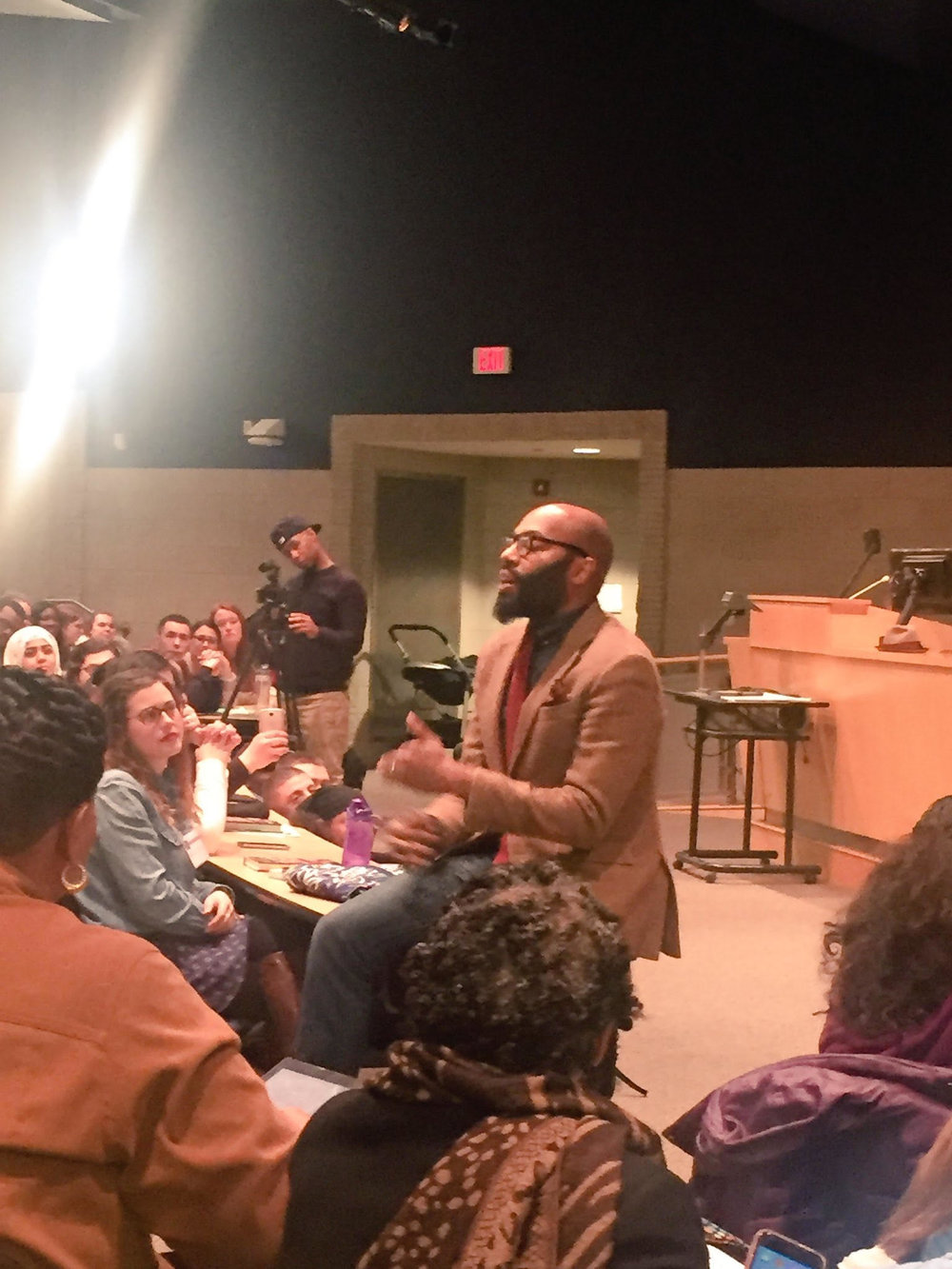 The day concluded with a keynote speaker, Dr. Christopher Emdin, a professor from Columbia University, published author and influential speaker on education issues. (Photo courtesy of Christopher Emdin's Twitter @chrisemdin)