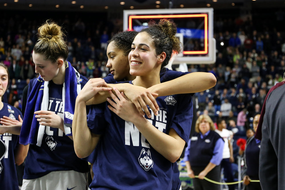 UConn junior Kia Nurse was all smiles after the Huskies' win.