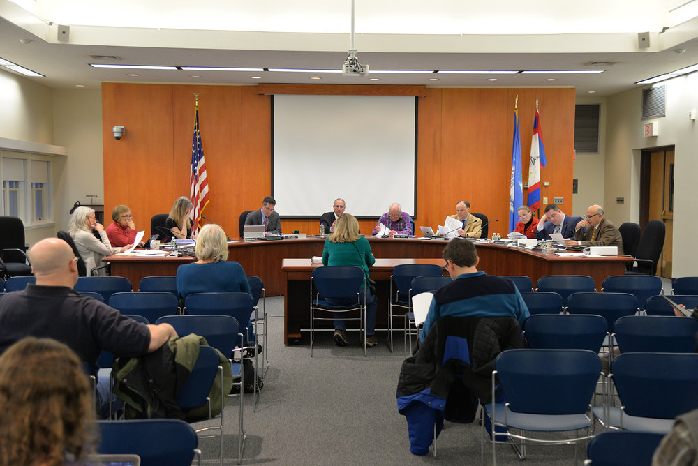 The Mansfield town council meets for it's biweekly meeting on Monday, Match 27, 2017 at Town Hall. During public comment, Mansfield residents expressed concerns over student rental properties and the Mansfield budget. (Amar Batra/The Daily Campus)