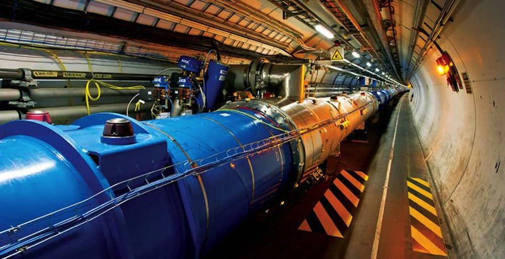The Large Hadron Collider, found on the French-Switzerland board, is known as the world's largest single machine. (Photo courtesy of CERN)