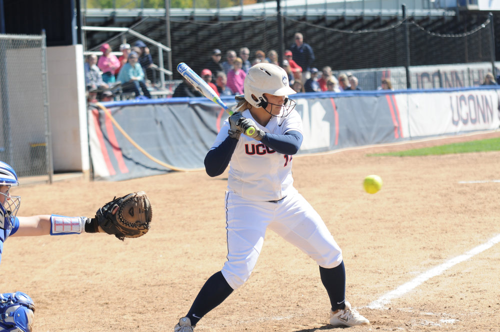 The UConn women's softball team defeats UM-Lowell 6-3 at Burrill Field Sunday, Sept. 25, 2016. The game was part of a double header match. (Sarina Garcia/The Daily Campus)