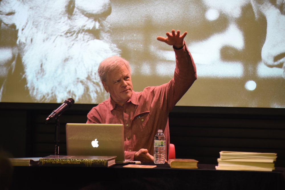 The Spring Puppet Forum Series presented Bruce Kennett who talked about the puppetry and graphic design of W.A. Dwiggins. The forum was in the Ballard and the net forum is on April 12. (Charlotte Lao/The Daily Campus)