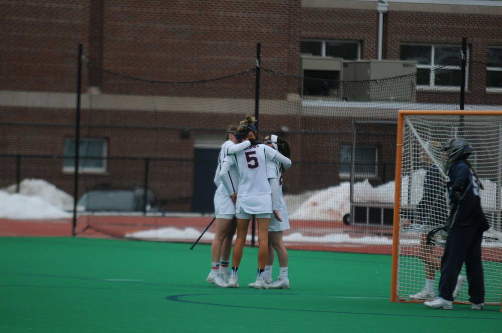 The Women's Lacrosse team went head to head against the Georgetown Hoyas. The Huskies fell short, losing 14-6. (John Sammis/The Daily Campus)