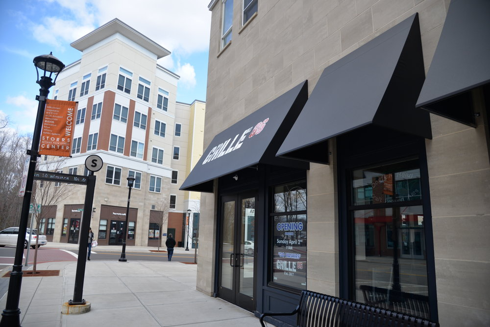 Grille 86 and Tang are restaurants in Storrs center that will be opening soon. (Amar Batra/The Daily Campus)
