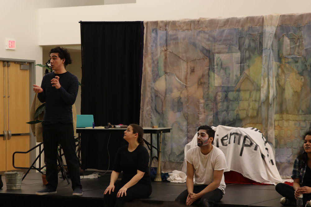 "Teatro Milagro conducts a Q&A for ""El Payaso"" a bilingual play, at the Student Union Ballroom on Thursday, March 30, 2017. (Mustafe Mussa/The Daily Campus)"