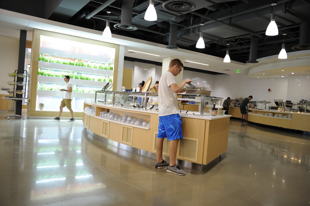 "All eight dining halls at UConn have been recently certified as ""Green Restaurants"" including thew newly renovated Putnam Dining Hall. (Jason Jiang/The Daily Campus)"