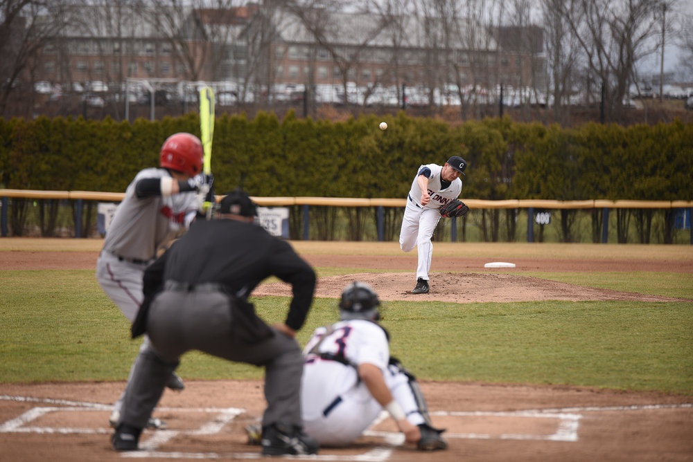 UConn lost to the Hartford Hawks on Wednesday April 5 at home scoring 6-4.  (Zhelun Lang/ The Daily Campus)