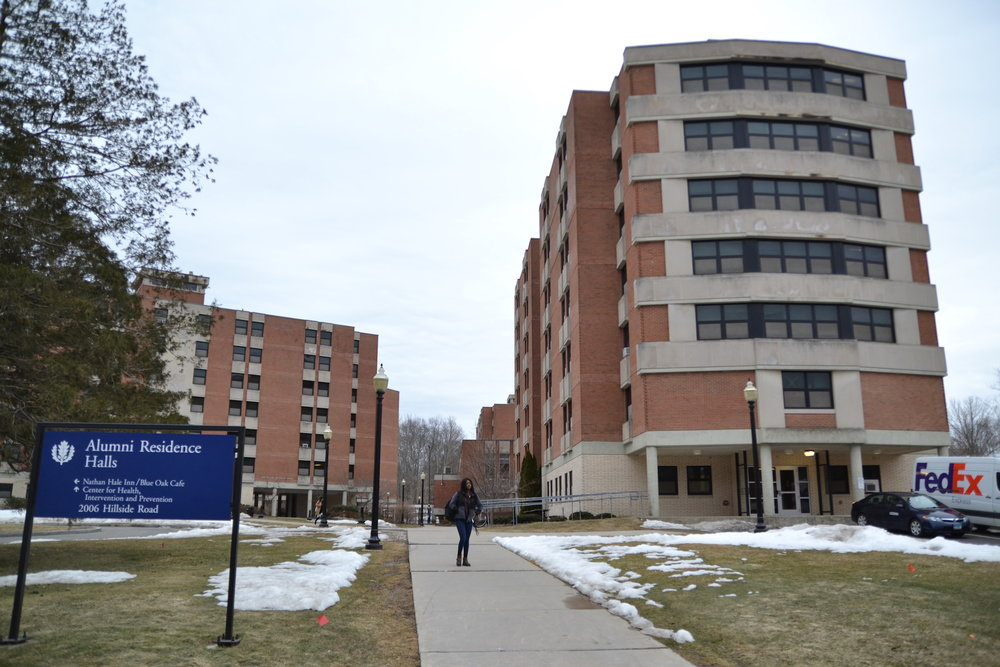 The University of Connecticut's Board of Trustees authorized the use of $69,000 in University Funds and $631,000 in UCONN 2000 bond funds for Residential Life Facilities to replace showers in two buildings of the Alumni Quadrangle residential area. (Amar Batra/The Daily Campus)
