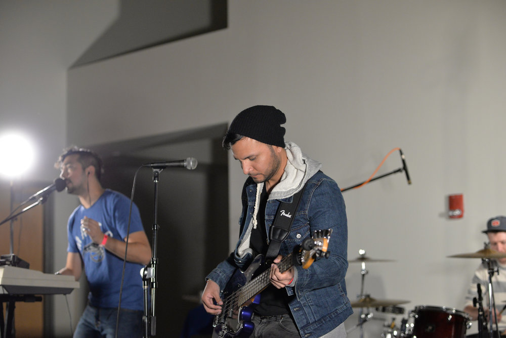 Reverist jams out during the 2017 Spring Fling hosted by WHUS in a packed Student Union Ballroom on Saturday, April 8, 2017. (Amar Batra/The Daily Campus)