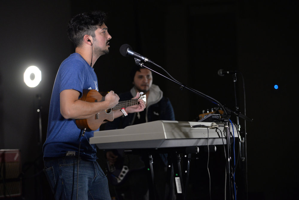 Reverist performs during the 2017 Spring Fling hosted by WHUS in a packed Student Union Ballroom on Saturday, April 8, 2017. (Amar Batra/The Daily Campus)