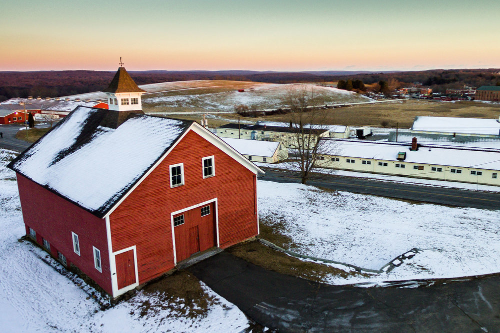 Bird's eye view of UConn's Horsebarn Hill. (Tyler Benton/The Daily Campus)