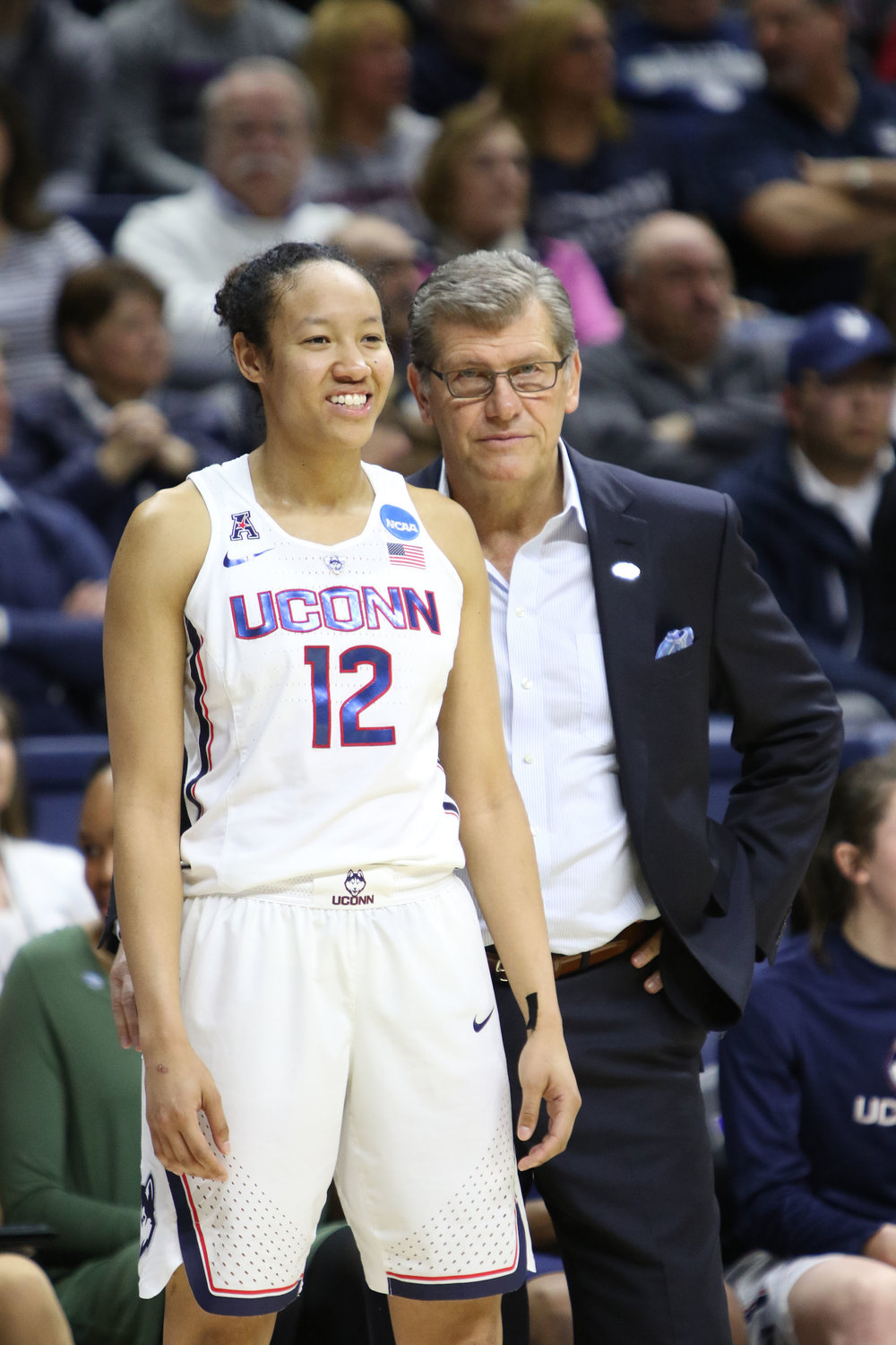 The UConn women's basketball team defeated the Syracuse Orange 94-64 on Monday night at Gamble Pavilion to advance to their 24th straight Sweet Sixteen. Kia Nurse led the Huskies with 29 points.  (Jackson Haigis/The Daily Campus)