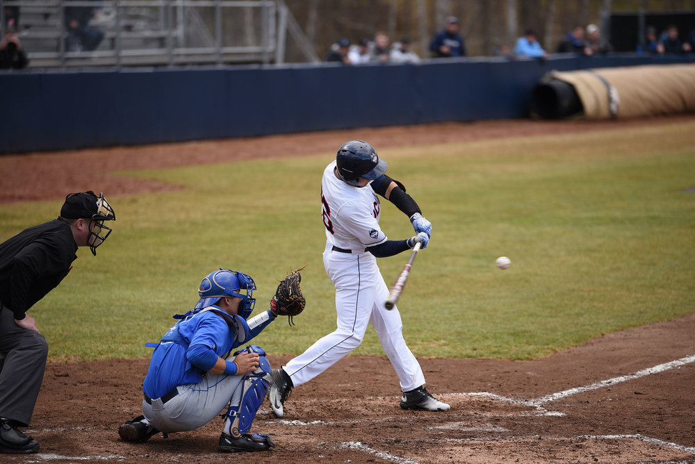 UConn baseball defeat Memphis at home on Friday April 7th with an overall score of 6-2.  (Zhelun Lang/The Daily Campus)