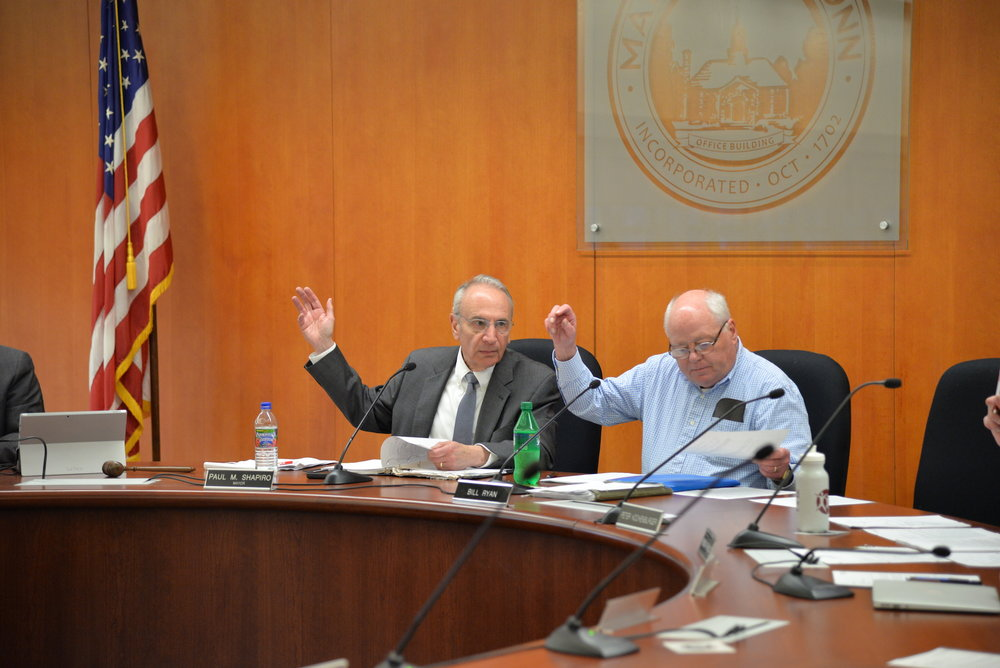 The Mansfield Town Council met for its bimonthly meeting in Town hall on Wednesday. Items on the agenda included a presentation from the last green valley and a discussion about land use. Additionally Town Manager Matt Hart announced his retirement from the council come July 1. (Amar Batra/The Daily Campus)