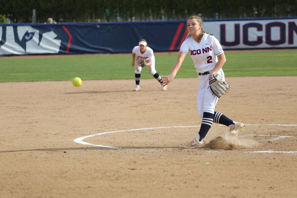 The Huskies took on the Boston College Eagles April 11th at Burrill Family Field in Storrs, CT.  The Huskies held on to their 3-2 lead to win the game, moving their season total to 14-19. (Tyler Benton/The Daily Campus)