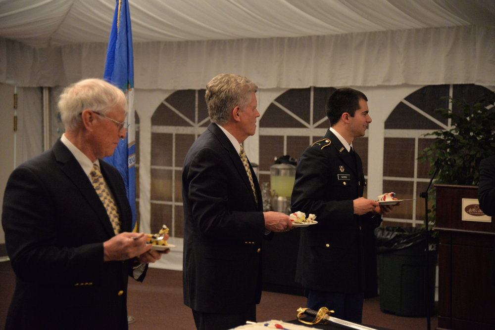 The Ball was a mock version of an official military ball and had many facets of an official ball including things like a table for POW/MIA soldiers, guest speakers, a pinning ceremony and a Marine cake cutting ceremony. (Amar Batra/The Daily Campus)