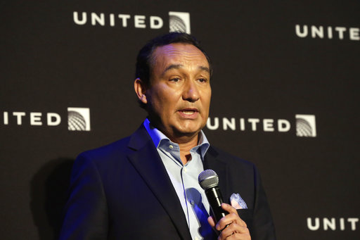 "In this Thursday, June 2, 2016, file photo, United Airlines CEO Oscar Munoz delivers remarks in New York. Munoz said in a note to employees Tuesday, April 11, 2017, that he continues to be disturbed by the incident Sunday night in Chicago, where a passenger was forcibly removed from a United Express flight. Munoz said he was committed to ""fix what's broken so this never happens again."" (AP Photo/Richard Drew, File)"