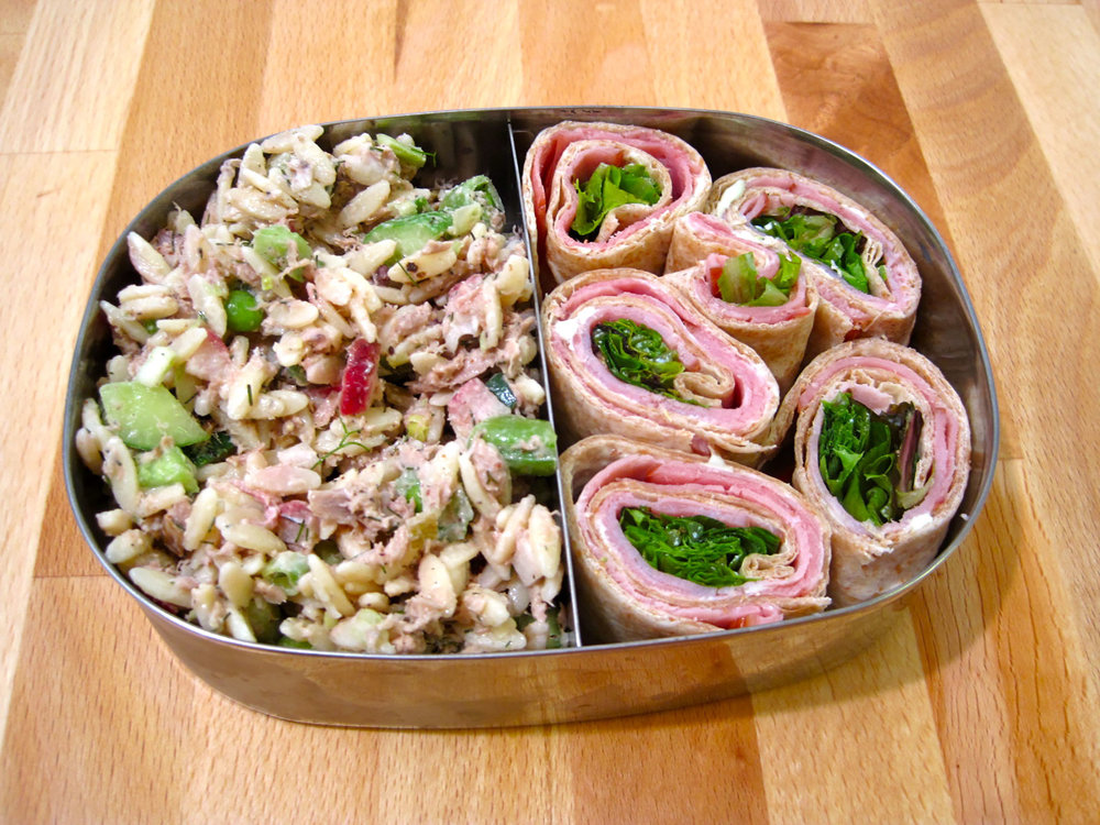 Ham pasta salad perfectly complements a picnic lunch or perfect on their own on a warm summer day.  (mamichan/Flickr Creative Commons)