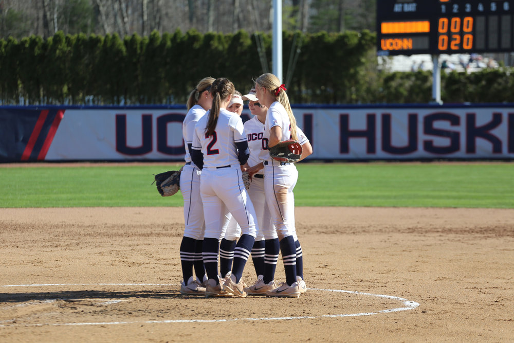 UConn defeats Umass 7-1 in their first game of the week on April 18, 2017 at the Burril Family Field. (Tyler Benton/The Daily Campus)