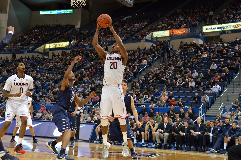 Pictured is Lasan Kromah from the UConn vs Yale game from November, 2013.  The Huskies won 80-62 at Gampel Pavillion.  (File Photo/ The Daily Campus)