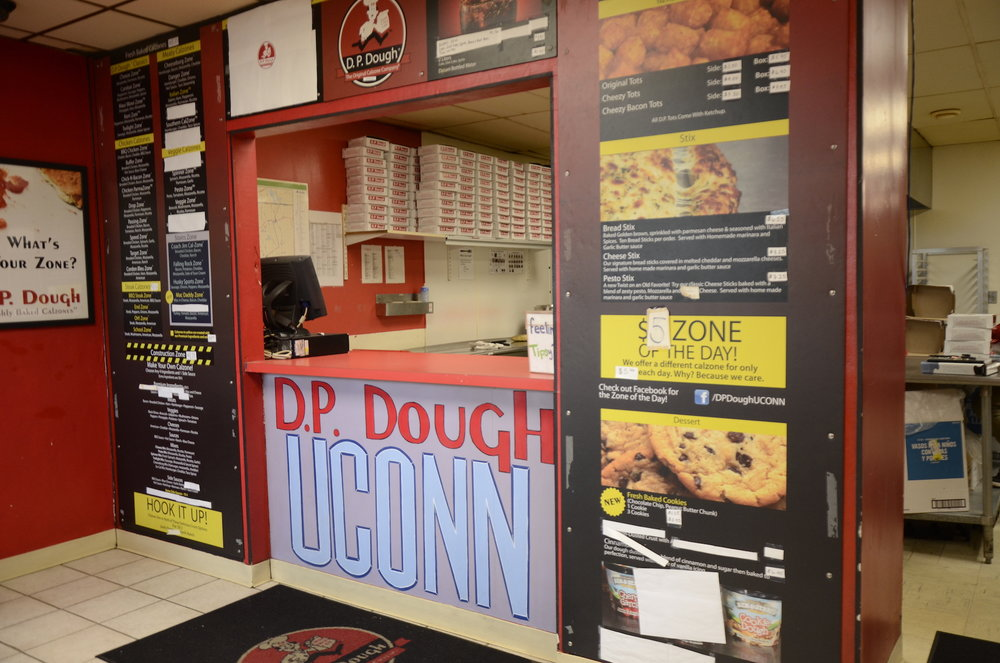 D.P. Dough is gearing up for its annual 4/20 sale, its busiest day of the year. It will sell four calzones for $20 (Charlotte Lao/The Daily Campus)