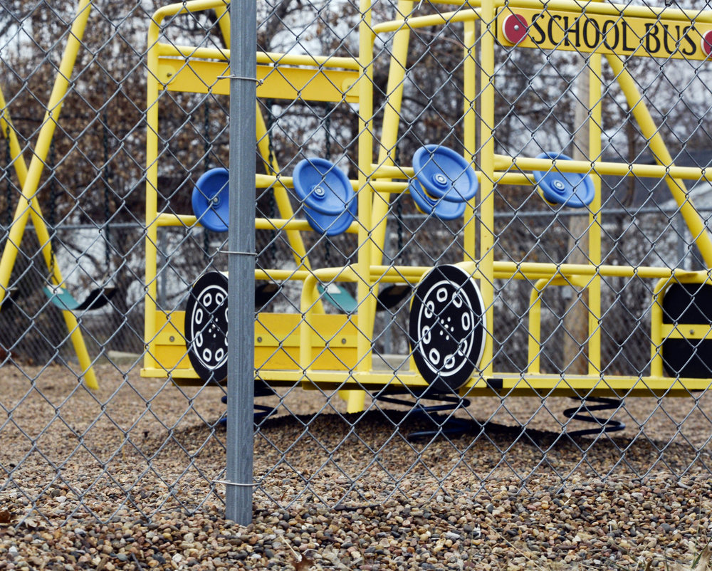 In this photo taken Jan. 26, 2016, the empty playground at Trinity Lutheran Church in Columbia, Mo. (Annaliese Nurnberg/Missourian via AP)