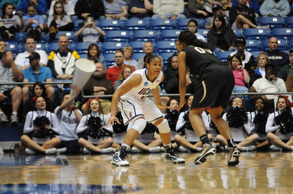 Pictured: Maya Moore (number 23) played for UConn against Florida State on March 30, 2010.  Our writer believed that Maya Moore was the most memorable female UConn athlete. (File photo/ The Daily Campus)