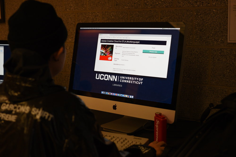 The University of Connecticut's contract with Adobe Creative Cloud suite is due to expire on May 31. UConn is continuing to negotiate with Adobe to prevent students from losing access. (Zhelun Lang/The Daily Campus)