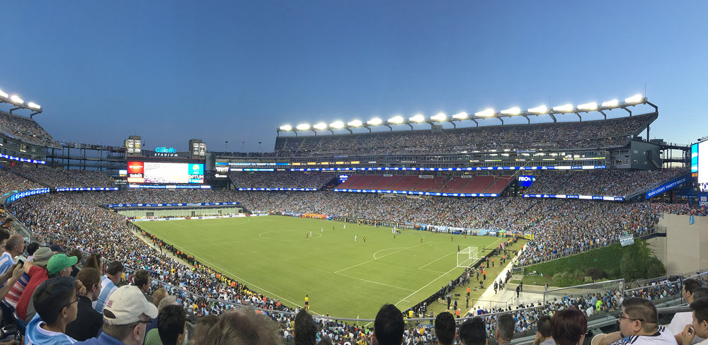 Gillette Stadium, Foxborough, MA, pictured during a professional soccer game.  (Daniela Marulanda/ The Daily Campus)