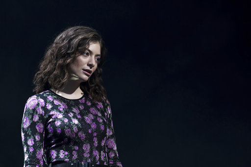 Singer Lorde performs on the 'Other Stage' at the Glastonbury music festival at Worthy Farm, in Somerset, England, Friday, June 23, 2017. (Photo by Grant Pollard/Invision/AP)