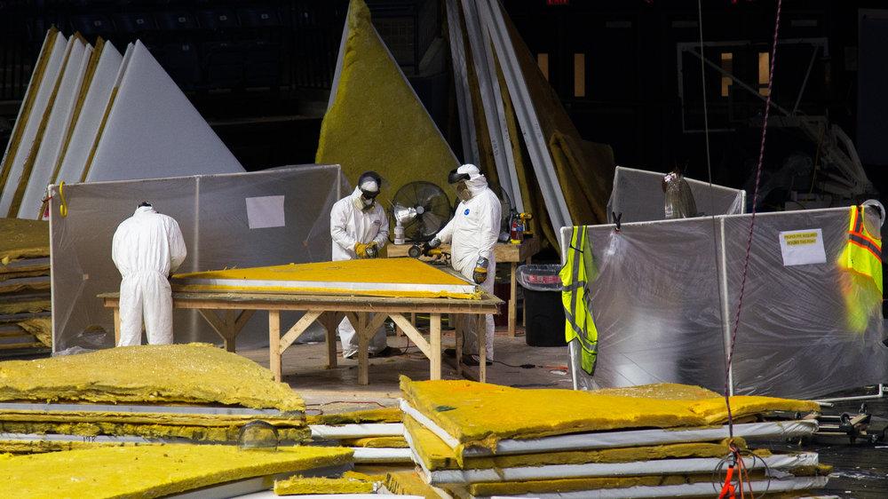 2093 Tiles: Gampel Pavilion roof renovation