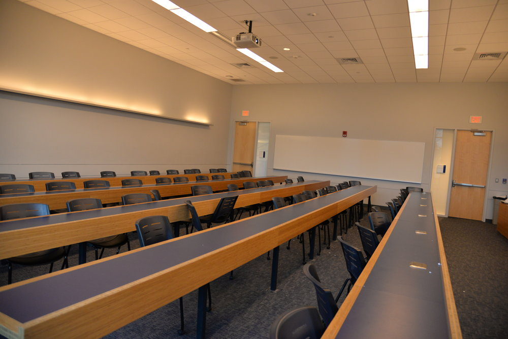 Large classes - like those held in Laurel Hall - are to be expected at a university of this size. (File photo, The Daily Campus)