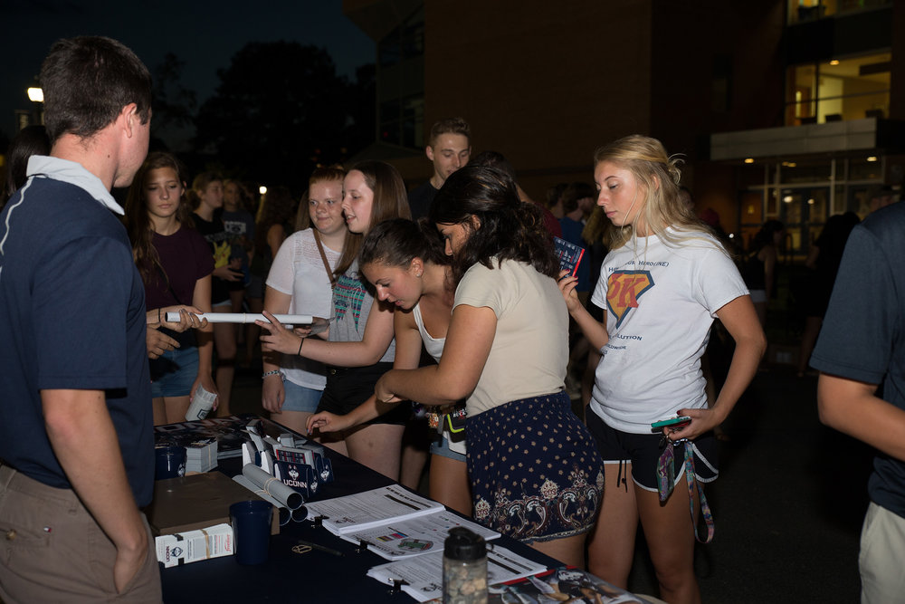 Hundreds of students filled Fairfield Way during the annual block party this past Saturday night to celebrate the beginning of the school year. (The Daily Campus/stock photo)