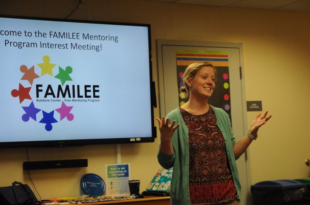 The Rainbow Center held a meeting for their FAMILEE mentoring program which works to foster academics, maturity and leadership. (Olivia Stenger/Daily Campus)