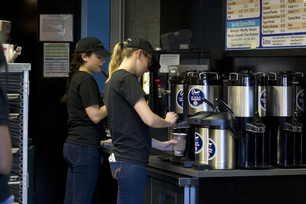Peet's Coffee has replaced Bookworms Café in Homer Babbidge Library. They offer a whole new menu and include coffee that is part of a Rainforest Alliance certified brand. (Rebecca Newman/Daily Campus)