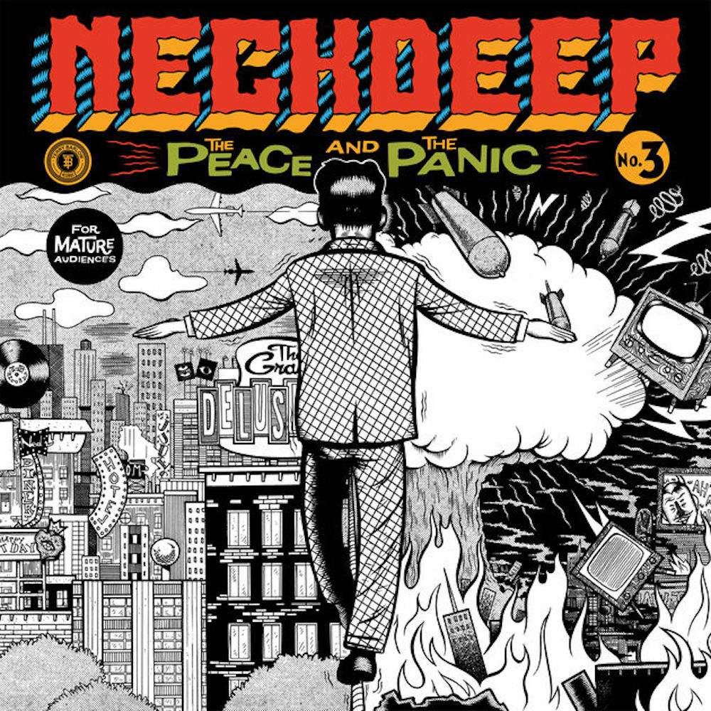 "Album cover for Welsh pop-punk band Neck Deep's new album ""The Peace and the Panic"".(Courtesy/Hopeless Records)"