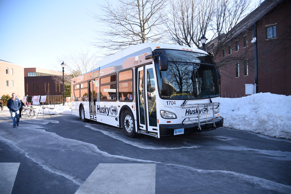 """[The] change of the several routes were necessary to best serve students while avoiding the road work,"" UConn spokesperson Stephanie Reitz said. (Charlotte Lao/The Daily Campus)"