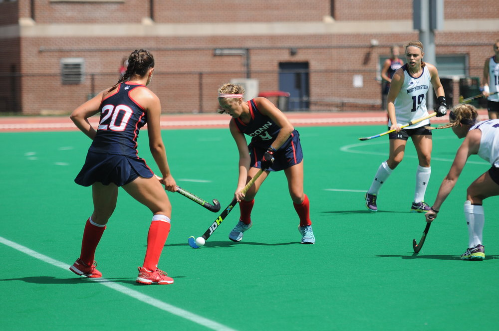The UConn field hockey team had their second game of the weekend against Northwestern on Sunday, August 27 at 1 p.m.. The Huskies won with a final score of 7-0. Photo by Olivia Stenger, Photo Editor/Daily Campus.