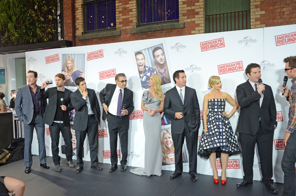 "The cast of ""American Pie"" at a reunion in Melbourne, Australia in March 2012."