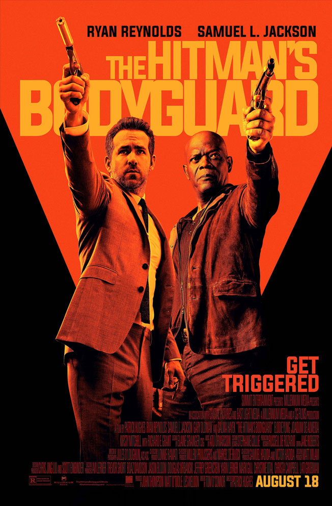 The Hitman's Bodyguard was a race-against-the-clock style movie, with Reynolds and Jackson spending an action-packed 24 hours together. Reynolds' character is tasked with delivering Jackson's to an international crime court so he can testify as a witness against an Eastern European dictator (Oldman).   Poster via http://www.thehitmansbodyguard.movie
