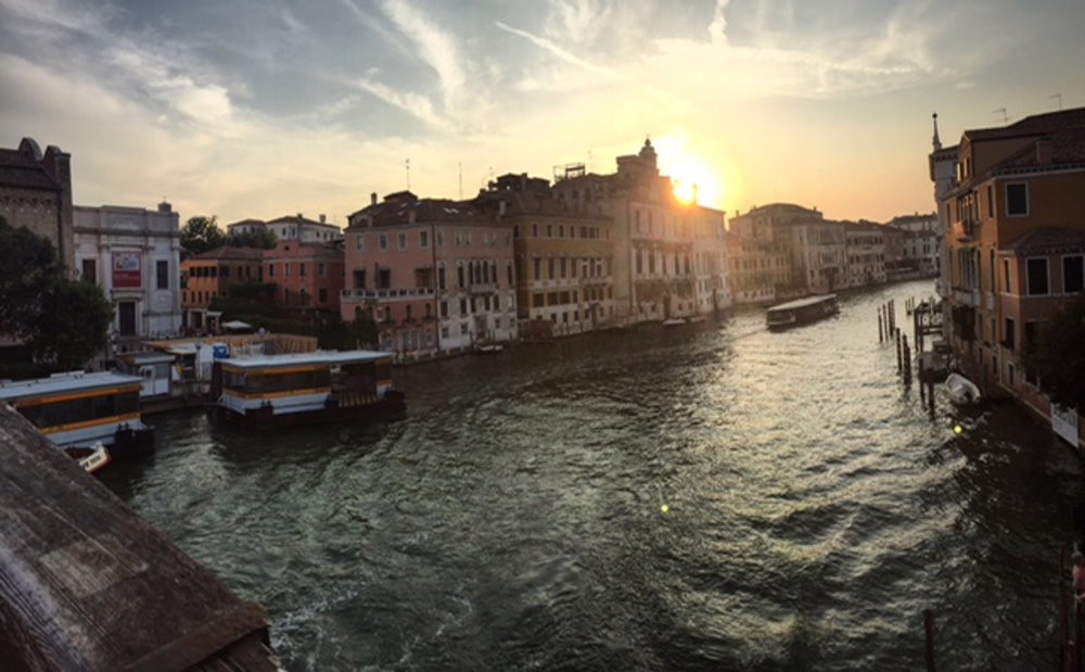 With no cars whatsoever – only boats and bridges to get you where you want to go – you can walk your way to the most famous bridge of all, the Rialto Bridge overlooking the Grand Canal. (Courtesy of author)