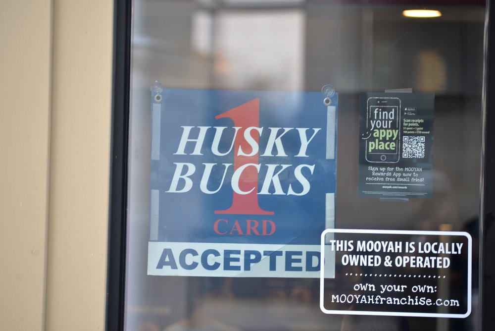 Husky Bucks are accepted at many retail locations in Stores and  will be expanding to downtown Hartford. (Amar Batra/The Daily Campus)