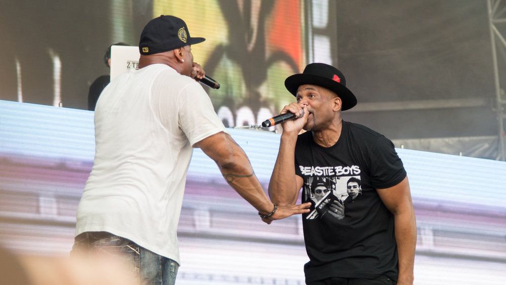 "LL Cool J and DMC spit some lines on day two of The Meadows Music and Art Festival at Citi Field on Sat. Sept. 16, 2017. The two performed the hip-hop classic ""It's Tricky."" (Amar Batra/The Daily Campus)"