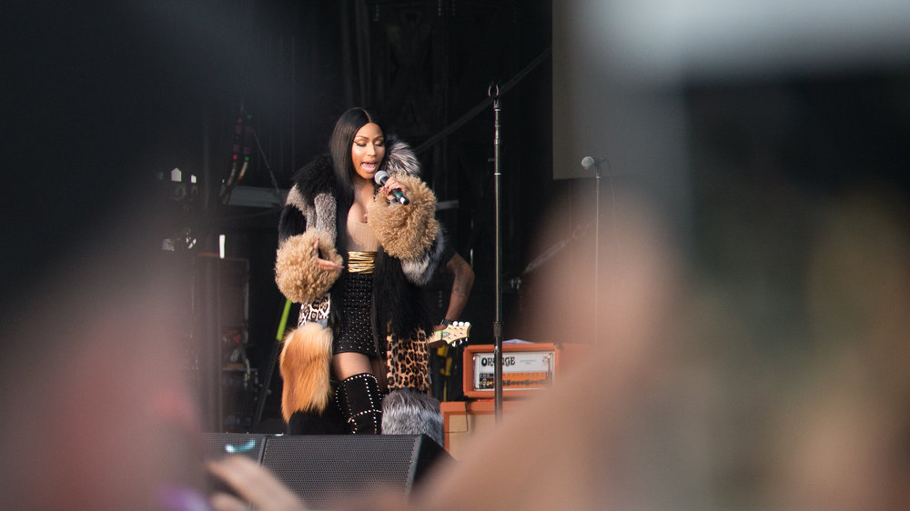 Nicki Minaj joins Future during his set on day two of The Meadows Music and Art Festival at Citi Field on Sat. Sept. 16, 2017. (Amar Batra/The Daily Campus)